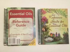 LOT of 2 Essential Oil Reference Books - SEE pics - FREE shipping in USA