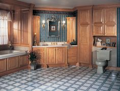 """Intelligent storage solutions"" for the bathroom by Merillat Masterpiece Cabinetry Cabinets And Countertops, Bathroom Cabinets, Kitchen Cabinets, Open Bathroom, Bathrooms, Organizing Your Home, Beautiful Homes, Home Improvement, Corian"