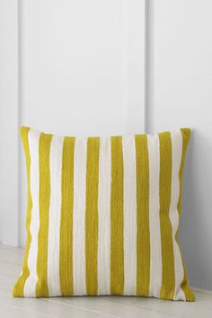 Embroidered Stripe Decorative Pillow Cover $17.99