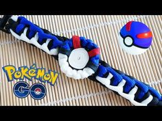 How to Make a Pokemon Go! Great Ball Paracord Bracelet Tutorial - YouTube
