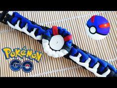 How to Make a Pokemon Go! Great Ball Paracord Bracelet Tutorial - YouTube
