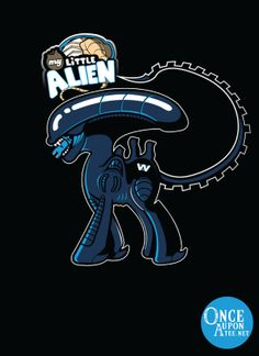A My Little Pony inspired take on the Xenomorph from Alien by Ratigan. Show everyone that you are a fan of Aliens with this t-shirt. Xenomorph, Funny Character, Character Design, Alien Ridley Scott, Alien Film, Alien Alien, Giger Alien, Alien Covenant, Predator Alien