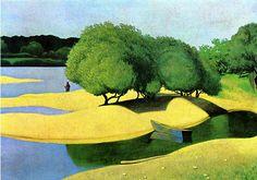 Felix Vallotton. - Sandbanks on the Loire
