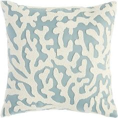 seashellcottage.quenalbertini2: Coral Embroidered Maui Pillow | Pier1 Imports