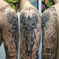 diablo tyrael tattoo tattoo by graffittoo pinterest. Black Bedroom Furniture Sets. Home Design Ideas