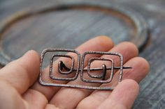 Ancient Greek motif shawl pin scarf pin sweater by Keepandcherish
