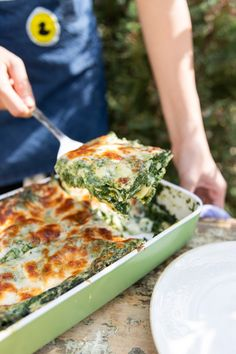 Spenótos lasagne recept | Street Kitchen