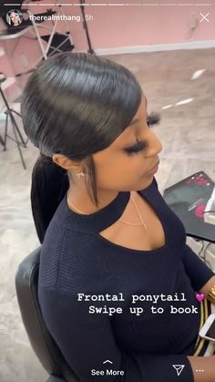 Slicked Back Ponytail, Slick Ponytail, Elegant Ponytail, Weave Ponytail Hairstyles, My Hairstyle, Woman Hairstyles, Curly Hair Styles, Natural Hair Styles, Hair Laid