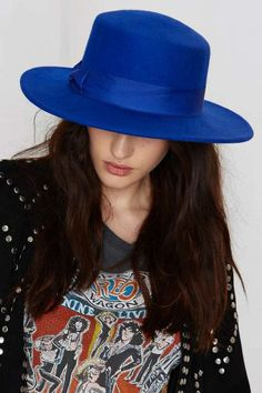Factory Lack of Color The Azure Boater Wool Hat