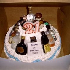 Creative Cake Ideas For Boyfriend : 1000+ images about Happy 21st on Pinterest Beer cakes ...
