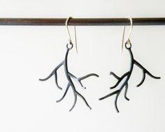 Small Branch Earrings - Hannah Blount Jewelry - Hannah Blount Jewelry