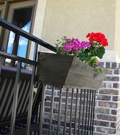 Apartment living? Hanging flower boxes. Inexpensive to make - and awesome to feel like you have your own yard.    Thrifty and Chic: DIY Planter Boxes