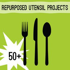 50+ Ways to Repurpose Silverware Utensils @savedbyloves #Upcycle