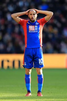 Andros Townsend of Palalce looks on during the Premier League match between Watford and Crystal Palace at Vicarage Road on December 26, 2016 in Watford, England.