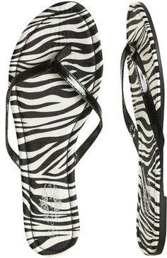 f8ae06b32 Zebra print flip flops  zebraprint  shoes  womensfashion Animal Print Flip  Flops