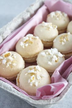 Salted Buttered Popcorn Macarons with Salted Caramel