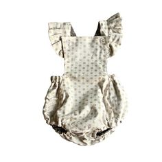 Shimmering Pewter Reversible Butterfly Romper by PAUSH