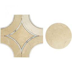 Shop 11.81 x 11.81 Highland Cinderglow Calcatta Gold Crema Marfil Polished Marble Tile in Gray at TileBar.com.