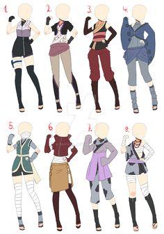 [Closed]Naruto Outfit adopt batch 1 by AzaHana.deviantart.com on @DeviantArt