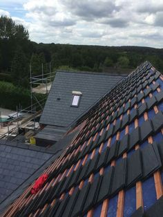 Loaded out slate roof Copper Roof, Slate Roof, Building, Architecture, Copper Ceiling, Buildings, Construction