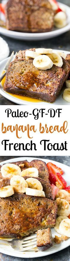 This Banana Bread French Toast is pure paleo breakfast comfort food! Made with a hearty banana-sweetened grain free and paleo banana bread, it's perfect for a weekend breakfast treat when you're craving something indulgent. Gluten free, dairy free, refine
