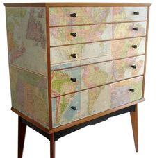 Map chest by Alfred Cox.