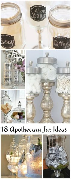 Best makeup room ideas dollar stores apothecary jars 23 ideas, – Brille Make-up Mason Jar Crafts, Mason Jars, Vase Crafts, Dollar Tree Crafts, Makeup Rooms, Craft Organization, Bedroom Organization, Organizing Ideas, Cookies Et Biscuits