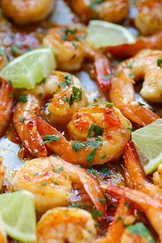 Sweet chili-garlic shrimp - easiest and most delicious shrimp you can make in 15 mins. Sticky sweet, savory with a little heat. SO good! | rasamalaysia.com