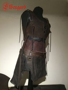 Blackbrown Leather Skirt Lagertha O-RingMedieval Larp von Elbengard