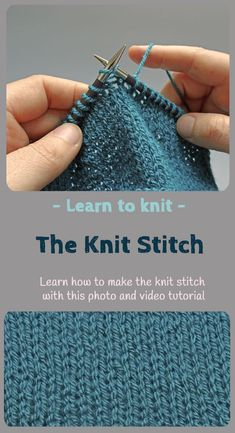 Ever fancied learning knitting. Its simple! try this easy to follow step by step tutorial to teach you how to knit the knit stitch. This post includes a full photo tutorial but also a video showing you exactly what to do.