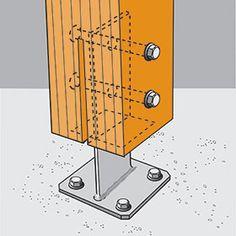 constructie detail houten kolom - Google zoeken