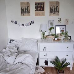 Imagem de room, white, and plants
