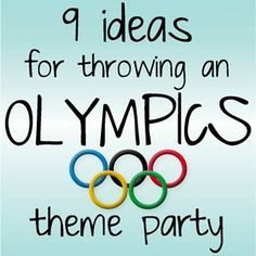 Kristina does the Internets: 9 Olympics Theme Party Ideas Olympic Idea, Olympic Games, Olympic Gymnastics, Gymnastics Quotes, Trivia Games, Party Games, Party Favors, Swimsuit For Small Chest, Party Kit