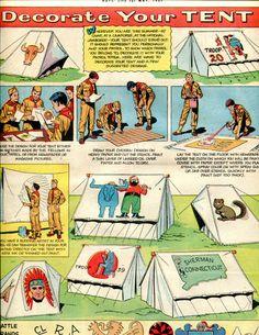 1950u0027s Vintage Boy Scouts Decorate Your Tent by PearlShoreCat $4.95  sc 1 st  Pinterest & 1930s catalog. shows various Boy Scouts accessories. | Hunters ...
