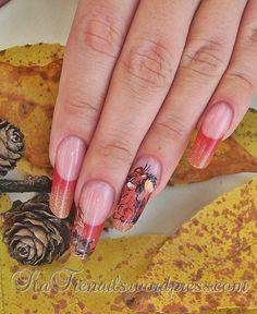 Jesienna stylizacja, nail art,