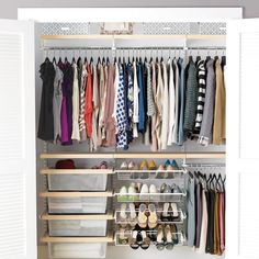 The Container Store Closet Systems Organize Your Small Closet & Avoid These 5 Mistakes  Pinterest