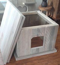 ombouw kattenbak met losse deksel tevens tafeltje 78x70x49