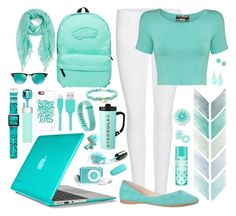 """""""Turquoise Tech"""" by designcat-colour ❤ liked on Polyvore featuring Speck, Ray-Ban, Casetify, Frame Denim, MiPow, CYLO, Vans, Fitbit, Pilot and Liz Claiborne"""