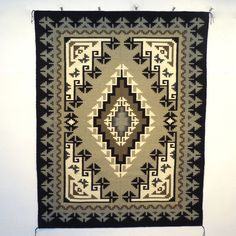 """""""Two Grey Hills"""" rug from Beth Lewis / Garland's Navajo Rugs"""