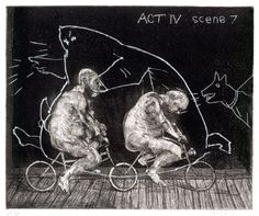 William Kentridge as printmaker - Ubu Tells the Truth, 1996-97, Image Courtesy David Krut Fine Art, New York and London. © the artist and David Krut Fine Art, New York and Johannesburg. #Contemporary Art #William Kentridge
