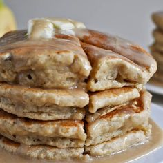 Banana+Bread+Pancakes+@keyingredient+#bread