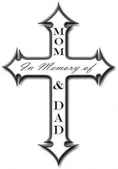 57 ideas tattoo ideas in memory of mom crosses for 2019 57 ideas tattoo ideas in memory of mom. Mom Dad Tattoo Designs, Mom Dad Tattoos, Cross Tattoo Designs, Heart Tattoo Designs, Tattoo Designs For Women, Tattoos For Women Small, Cross Tattoos, Future Tattoos, Skull Stencil