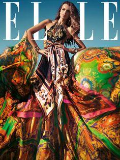 Elle Spain March 2012 Cover Model : Filippa Hamilton by Santiago Esteban Fashion Magazine Cover, Fashion Cover, Love Fashion, High Fashion, Colorful Fashion, Fashion News, Fashion Models, Fashion Design, Turbans