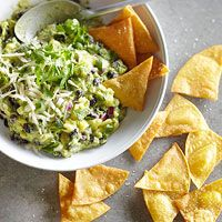 Saw this in the latest BHG issue and had to find it online to pin it to share! Pineapple-Black Bean Guacamole