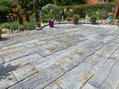 Gardenplaza - Terrassenplatten in Bahnschwellenoptik als besonderer Hingucker - Natürlich, markant, authentisch