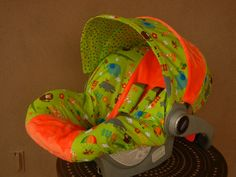 ON SALE  Baby Car Seat Cover boy car seat cover Green by isewjo, $64.00