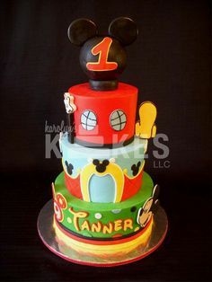 Mickey mouse tier cake for kids party