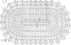 Crochet Doily Diagram, Crochet Rug Patterns, Crochet Symbols, Doily Patterns, Crochet Motif, Crochet Doilies, Crochet Designs, Crochet Carpet, Crochet Home