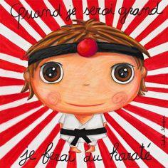 Karaté Kids Up, When I Grow Up, Edd, Cartoon Kids, Art Plastique, Photo Illustration, Karate, Tigger, Illustrations Posters
