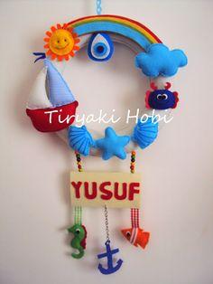 ! ✿ Tiryaki Hobi ✿ !: Keçe kapı süsü - deniz (YUSUF)